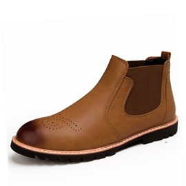 Faux Leather Mid-Cut Men's Booties