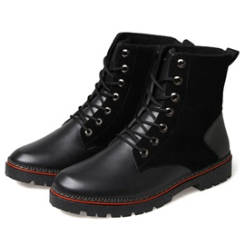 Faux Leather Lace-Up Martin Boots