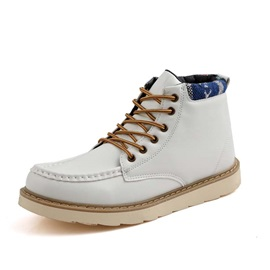 Western PU Plain Color Boots for Man