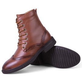 PU Pointed Toe Plain Martin Boots