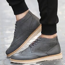 PU Plain Round Toe Boots for Man