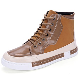 Color Block Lace-Up Men's Winter Boots