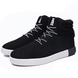Nubuck Leather Plain Lace-Up Men's Fashion Boots