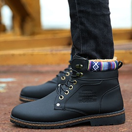 Geometric PU Men's Boots Sale