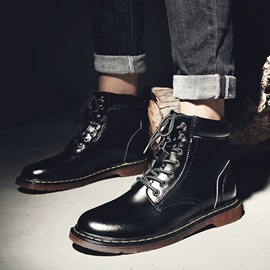 PU Gradient Lace-Up Front Sewing Men's Boots