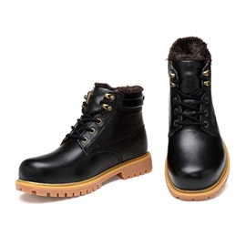 Mid-Calf Lace-Up Front Men's Martin Boots