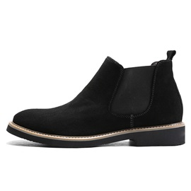 Patchwork Round Toe Elastic Men's Ankle Boots