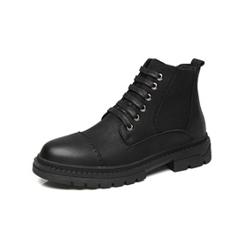 Round Toe Lace-Up Front Men's Work Boots