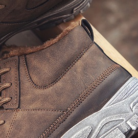 Round Toe Lace-Up Men's Winter Boots