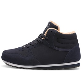 Lace-Up High-Cut Upper Men's Winter Sneakers