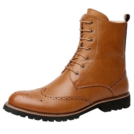 Side  Round Toe Men's Martin Boots