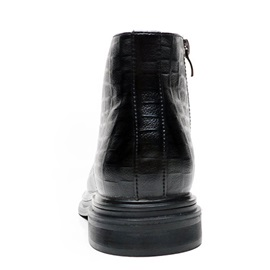 Round Toe Plain Lace-Up Front PU Business Men's Boots