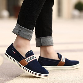 Round Toe Flat Heel Canvas Shoes