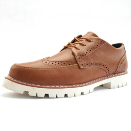 Quilted Flat Heel Brogue Shoes