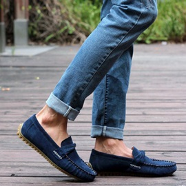 Solid Color Quilted Strappy Moccasin-Gommino