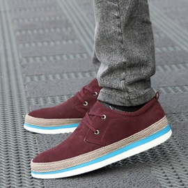 Solid Color Patchwork Lace-Up Derbies