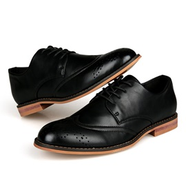 Patent Leather Brush-Off Brogue Shoes