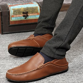 Solid Color Quilted Patchwork Loafers