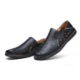 Perforated Soft Leather Men's Shoes