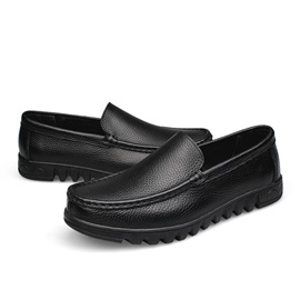 Solid Color Slip-On Men's Shoes