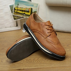PU Lace-Up Men's Brogues