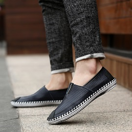 Thread Breathable Slip-On Men's Shoes