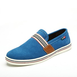 Striped Round Toe Slip-On Men's Shoes
