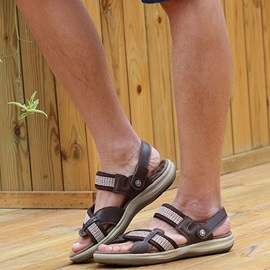 Strappy Open-Toe Men's Sandals Plus Size Avilable