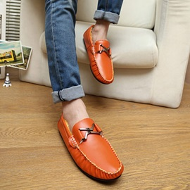 Buckles Ruched Slip-On Loafers