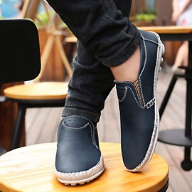 Round Toe Slip-On Men's Loafers