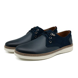 Suede Patchwork Lace-Up Men's Shoes