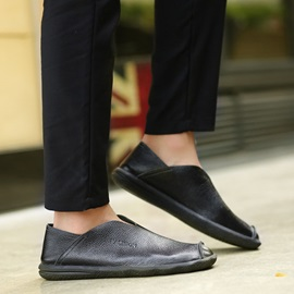 Solid Color Ruched Men's Loafers