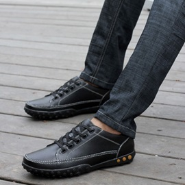 England Round Toe Lace-Up Men's Shoes