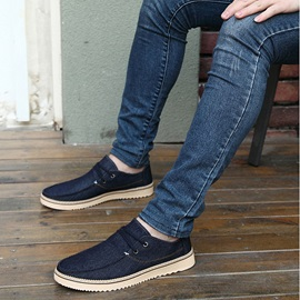 Wedge Sole Lace-Up Men's Boat Shoes