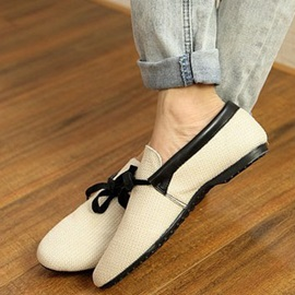 Pointed Toe Front Lace-Up Linen Men's Shoes