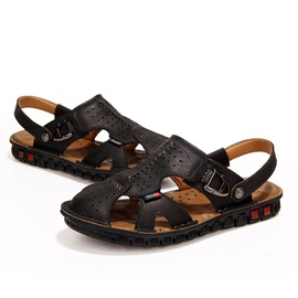 PU Cut-Out Men's Sandals