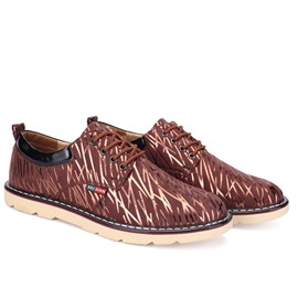 Printed Lace-Up Men's Shoes