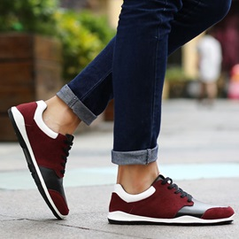 Color Block Front Lace-Up Men's Sneakers