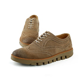 Suede Round Toe Men's Oxford Shoes