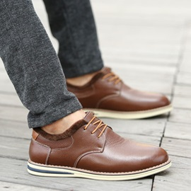 PU Round Toe Men's Casual Shoes