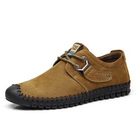Suede Thread Lace-Up Men's Sneakers