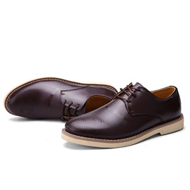 Breathable Lace-Up Men's Casual Shoes