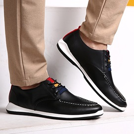 Round Toe Lace-Up Flat Casual Shoes