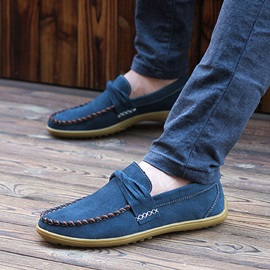 Thread Suede Slip-On Men's Casual Shoes
