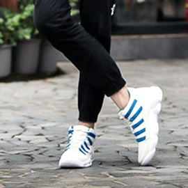 Color Block Lace-Up Sneakers