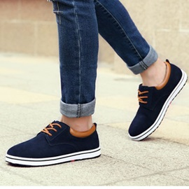 Suede Lace-Up Casual Shoes