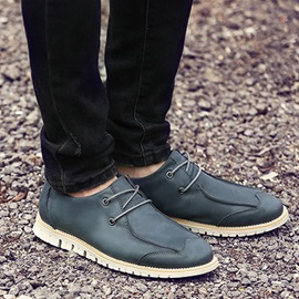 PU Lace-Up Men's Casual Shoes
