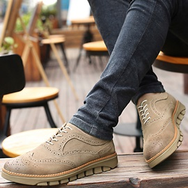 Suede Thread Round Toe Men's Casual Shoes
