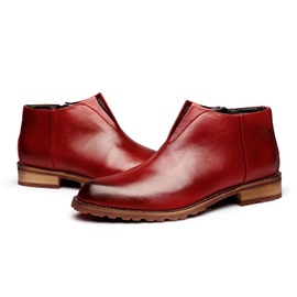 Gradient Color Square Heel Men's Boots