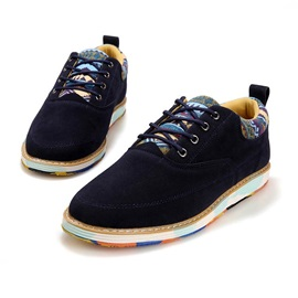 Suede Thread Lace-Up Men's Casual Shoes